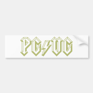 PG/VG Green Bumper Sticker