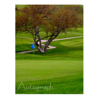 PGA/NCAA Autograph Signing Postcard