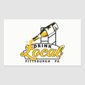 PGH Clothing Co. - Drink Local Decal Rectangular Sticker