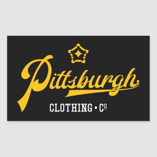 PGH Clothing Co. - Script Wordmark Decals Rectangular Sticker