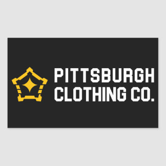 PGH Clothing Co. - Side Wordmark Decals Rectangular Sticker