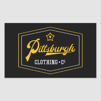 PGH Clothing Co. - Wordmark (Badge) Decal Rectangular Sticker