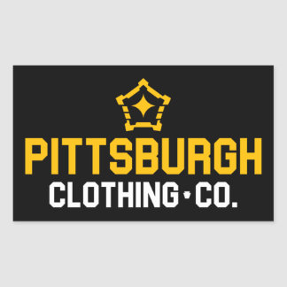 PGH Clothing Co. - Wordmark Decal Rectangular Sticker