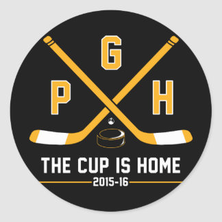 PGH - The Cup is Home Round Sticker