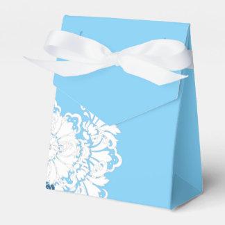 PH&D Blue Turquoise White Damask Favor Box Party Favour Box