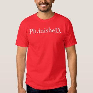 Ph.D Celebratory T-Shirt Red