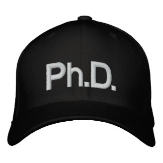 Ph.D. Embroidered Hat