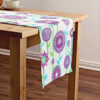 PH&D Flower Power Contemporary Table Runner Purple