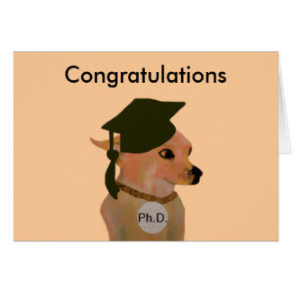 Ph D Graduation Card