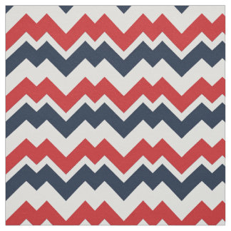 PH&D Panama Contemporary Chevron Fabric Navy/Red