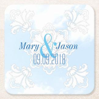 PH&D Personalize Wedding Coaster Winter Wonderland Square Paper Coaster