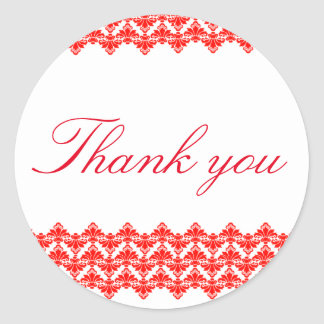 PH&D Thank You Sticker Antique Damask Red 2