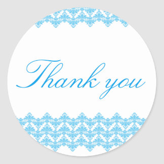 PH&D Thank You Sticker Antique Damask Turquoise 2