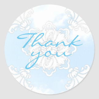 PH&D Thank You Sticker Winter Wonderland Damask