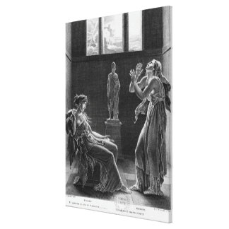 Phaedra and Oenone, illustration from Act I Canvas Print