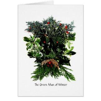 Phaedra's Phantasies - The Green Man of Winter Greeting Card
