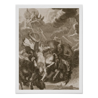 Phaeton Struck Down by Jupiter's Thunderbolt, 1731 Print