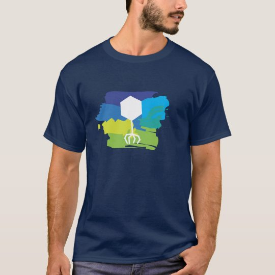 Phage Logo T-Shirt (Multi-Colour; Blue/Green)