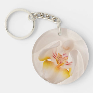 Phalaenopsis Moth Orchid Double-Sided Round Acrylic Keychain