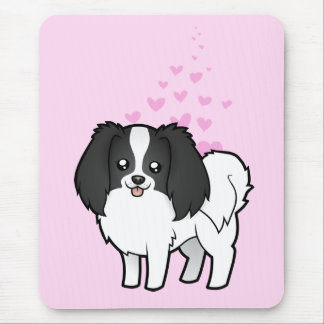 Phalene / Japanese Chin Love Mouse Pad