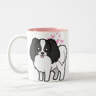 Phalene / Japanese Chin Love Two-Tone Mug