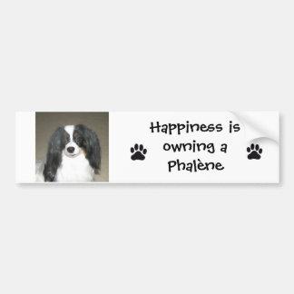 Phalene Papillon Happiness Sticker Bumper Sticker
