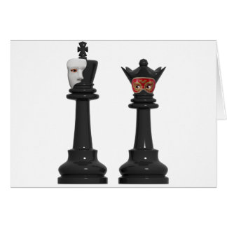 Phantom Chess King and Masked Queen Birthday Card