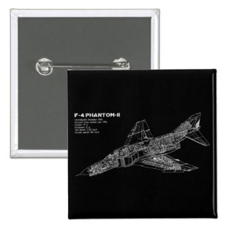 Phantom Fighter Jet (Supersonic Aircraft) Pilot 15 Cm Square Badge