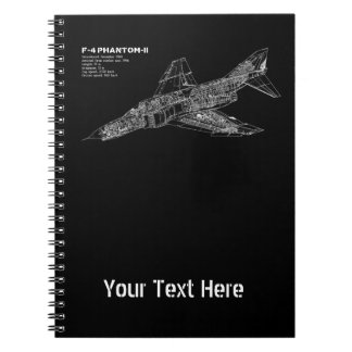 Phantom Fighter Jet (Supersonic Aircraft) Pilot Notebooks