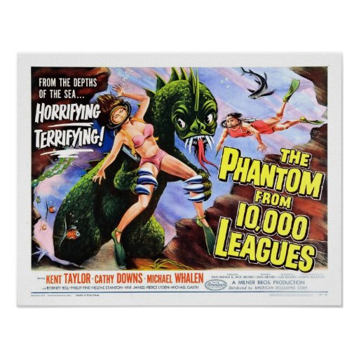 """""""Phantom from 10,000 Leagues"""" Poster"""