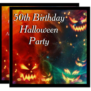 Phantom Pumpkins 50th Birthday Party Invitation