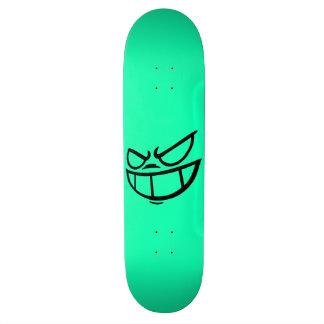 Phantom Smile™ Black and Aqua Skateboard Deck