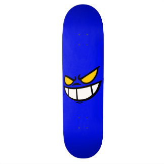 Phantom Smile™ Bold Blue Skateboard Deck