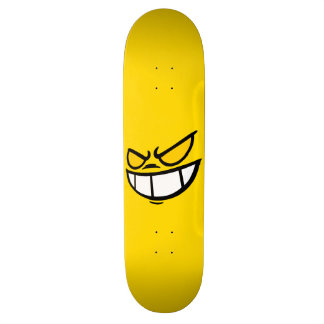 Phantom Smile™ Bold Yellow Skateboard Deck