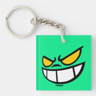 Phantom Smile™ Brand Aqua Green Square Keychain