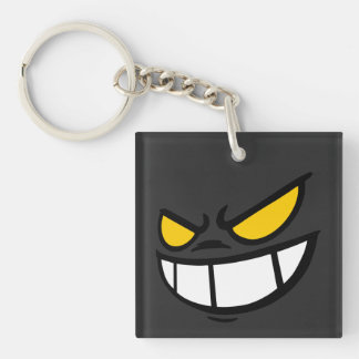 Phantom Smile™ Brand Asphalt Grey Square Keychain