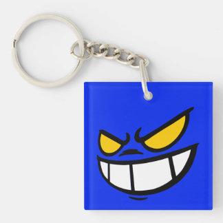 Phantom Smile™ Brand Blue Square Keychain