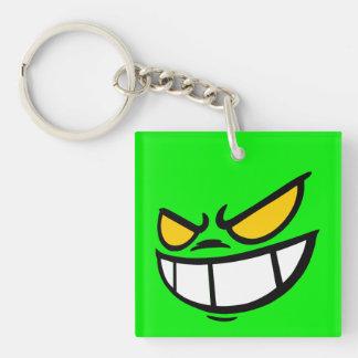 Phantom Smile™ Brand Green Square Keychain