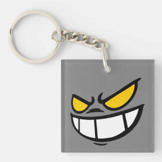Phantom Smile™ Brand Grey Square Keychain