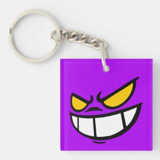 Phantom Smile™ Brand Purple Square Keychain