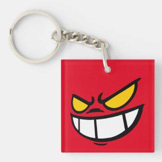 Phantom Smile™ Brand Red Square Keychain