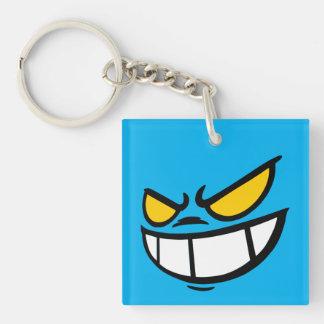 Phantom Smile™ Brand Sky Blue Square Keychain