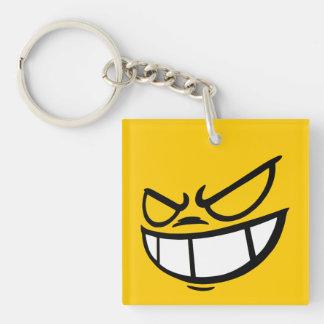 Phantom Smile™ Brand Yellow Square Keychain