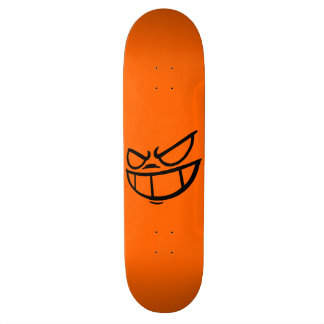 Phantom Smile™ Hot Orange & Black 18.4 Cm Mini Skateboard Deck