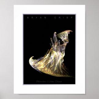 Phantom's New Dress - Digital Fractal Art Poster