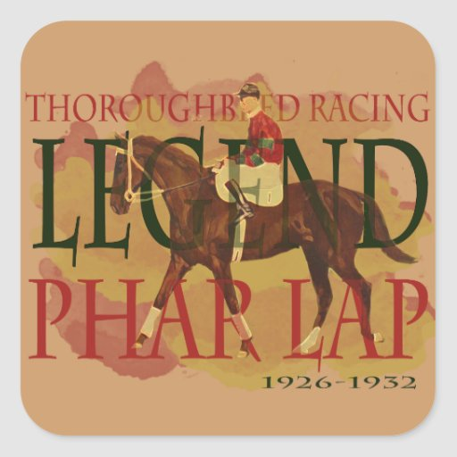 Phar Lap - Thoroughbred Horse Racing Legend Square Stickers