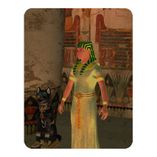 Pharao in the pyramid 11 cm x 14 cm invitation card