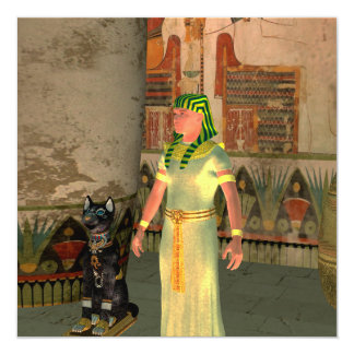 Pharao in the pyramid 13 cm x 13 cm square invitation card