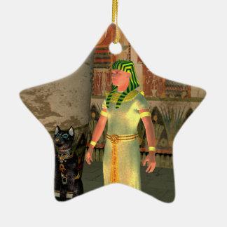 Pharao in the pyramid ceramic star decoration