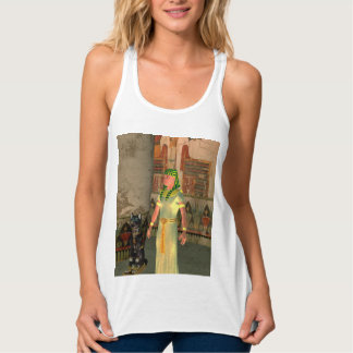 Pharao in the pyramid flowy racerback tank top